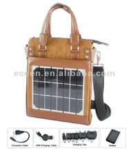 solar leather bag