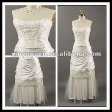 Hot Sale Ivories Layered Beaded Taffeta Sleeveless Bridesmaid/Birthday Party Dress XYY-mal27