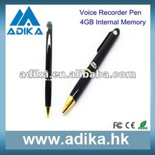 2012 Nice Real Pen 4GB Online Voice Recorder Pen ADK-DVR1002