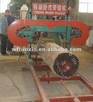 Diesel engine portable sawmill
