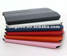 Newest elegant design silicon case for ipad mini with top quality PU material