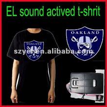 2012 Newly design NFL team logo EL equalizer flashing t-shrits