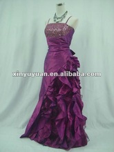 Hot Sale Black Purple Layered Beaded Taffeta A-line Bridesmaid/Birthday Party Dress XYY-wy5
