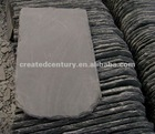 Grey roofing slate curved