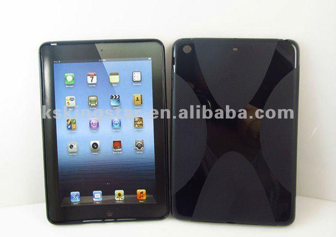 New Design TPU case with X shape for ipad mini