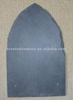 Natural black slate roof tile in special-shaped slate