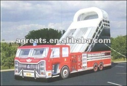 inflatable fire truck slide G4045