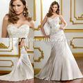 WD-577 جميل التطريز فستان الزفاف صقيل مطوي تنورة العربية