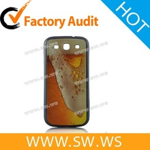 Brimming Beer Pattern Back Cover For Samsung Galaxy S3 i9300 - Purplish Blue