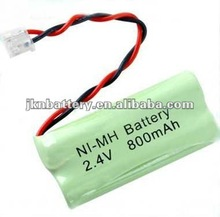 NiMH AA 800mAh 2.4V Cordless Phone rechargeable battery pack