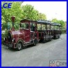 outdoor entertainment trackless diesel or electric tourist train