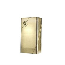 Popular gold color glossy corrugated paper gift wine pack for twin bottles