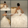 HYD-3039 Newest Fashion Sweetheat Embroidery Beaded Corset Ruffles Layers Skirt Organza 2012 Wedding Dress