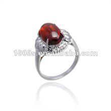 New Fashion Garnet Wedding Rings