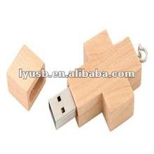 cross wood usb pendrive 2gb 4gb,crossing wooden usb flash memory 4gb,wooden crossing shape usb flash memory driver 4gb
