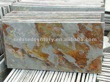 Outdoor floor tiles slate in laja raja color