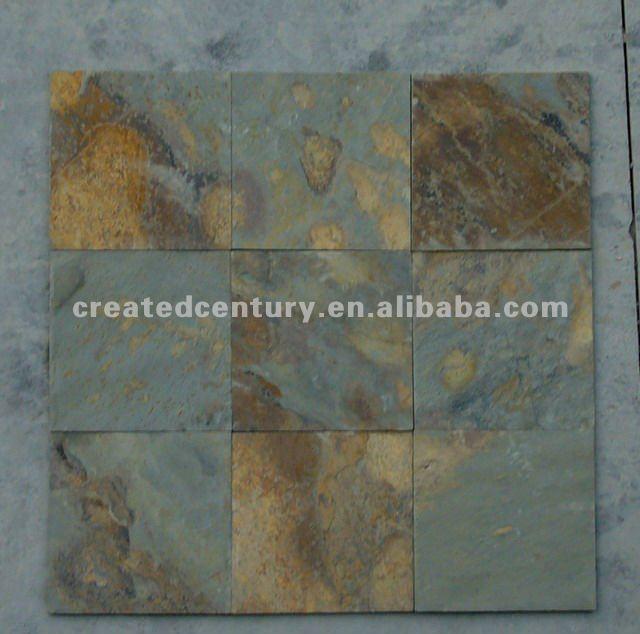 Natural oxidado exterior pizarra suelo de piedra pizarra - Suelo piedra natural ...