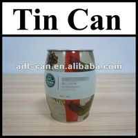 Coffee Powder Empty Tin Cans Pass SGS FDA gift tin can design