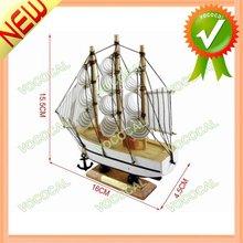 Wooden Decorative Ships Model 12cm