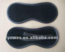 Black soft velvet material for promotional gift of eye mask