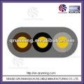 Bare condutor de cobre isolamento em pvc pvc bainha exterior 3 - núcleo de cabo flat