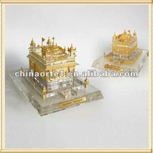 Grand Crystal Golden Temple Model For India Souvenir