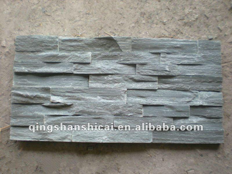 ardesia impilati pietra piastrelle muro di mattoni decorativi interni ...