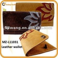 Lovingly leather handcrafted flower clutch bag