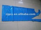 disposable blue plastic apron