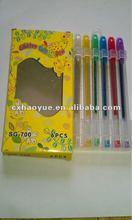 glitter color gel pen set