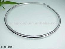 5mm Silver Color Omega Chain Choker Collar Necklace Chain For Pendant Accessory