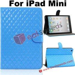 Protector Case for iPad Mini / Diamond Design PU Stand Protector Leather Case for iPad Mini Factory Price with NO MOQ