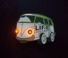 Mini car Led flashing badge flashing pin