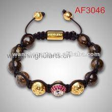 trendy gold rose balls faith love hope bracelet factory direct sell