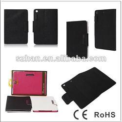 New Crossing Book PU Leather case For Ipad mini
