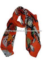 branded sheer scarf polyester 2012 newest design