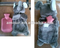 elephant hot water bag soft stuffed grey elephant hot water bag cover new toys for christmas 2013 winter gifts for kids lovers