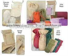 hemp pouches hessian jute gift bags for gift packing natural color