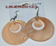 2012 hot selling natural round shell earring jewelry