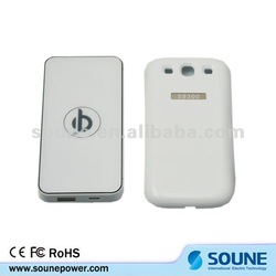 2012 Newest qi wireless charger for Samsung galaxy with power bank