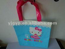 2012 Promotional beautiful cheap long handle tote bag