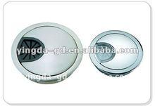Alloy /plastic different shape cable cover desk/desk cable gromment/furniture fittings