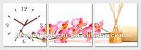 orchid flower mechanical clock movement, decor clock, clock manufacturer