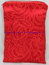 China Red Attractive Women Brocade jewelry bag