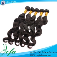 Top quality black body wave star hair weave