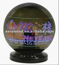 360 degree disco magic led 3d ball with 360 degree message and image display