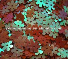 Laser bright sequin paillette PVC,flower flat spangle sequin wholesale 8mm red AB!