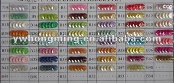 Sales bulk loose spangle sequin paillette PET for 2012 DIY garment accessories!