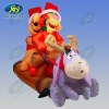Christmas promotion! tiger and pooh inflatable