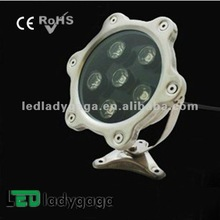 water activated led light 2012 DC24V/110-220V stainless steel led waterproof colorfull 6X1W OD150mm 600Im